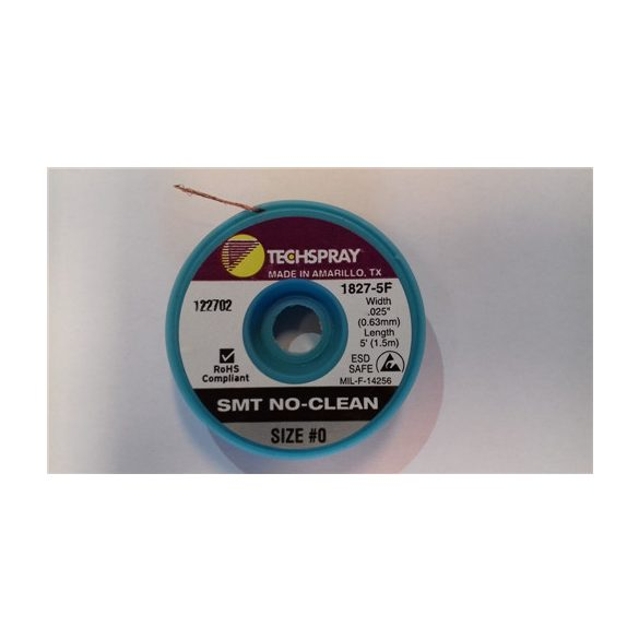Ónelszívó harisnya, kiforrasztó szalag, antisztatikus, no clean, szürke, 0,7mm x 1,5m