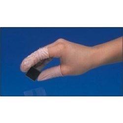 Gumi ujjvédő, antisztatikus, rózsaszín, 1000db/csomag M