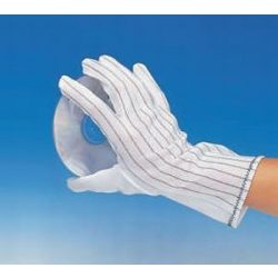 Antistatic gloves with long shaft, dotted on palm, size: L