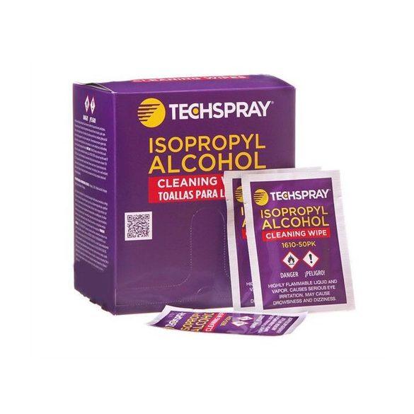 Izopropanolos törlőkendő, 50db/cs, külön csomagolva