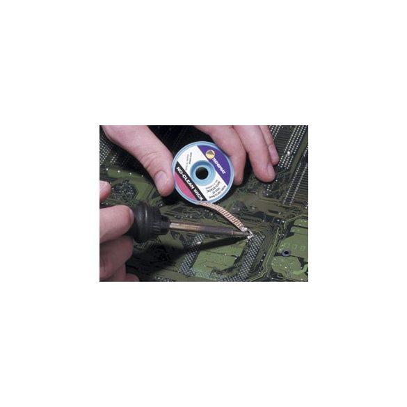 Ónelszívó harisnya, kiforrasztó szalag, antisztatikus, fehér, 0,9mm x 1,5m