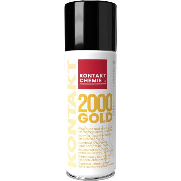 Kontakt Gold 2000 spray, kenést bíztosít az összes fémbevonatos érintkezéshez 200 ml