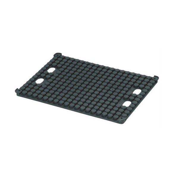 ESD asztali paneltároló, kör felosztású, 355 x 255 x 14 mm