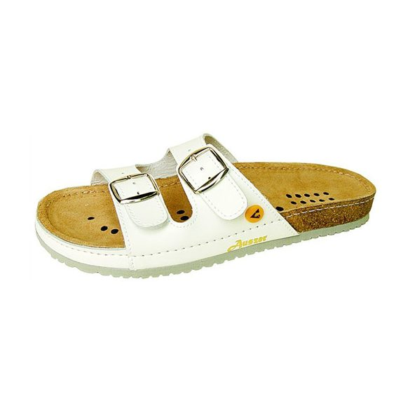 ESD papucs, csatos, fehér