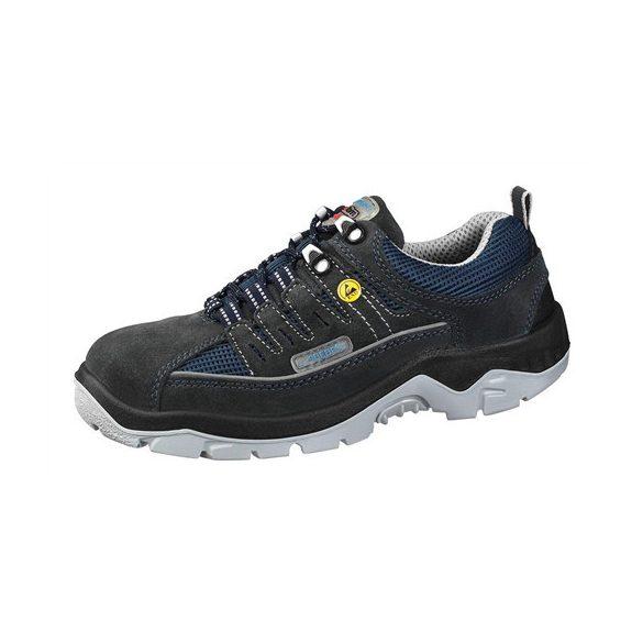 Cipő, ESD,acélkaplis, kék/fekete , fűzős 41