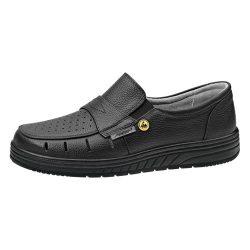 Cipő, ESD,fekete, belebújós 43