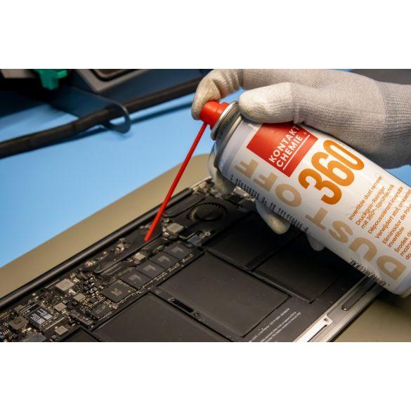 Dust Off 360, univerzális, állítható, sűrített levegővel működő portalanító spray, 200 ml