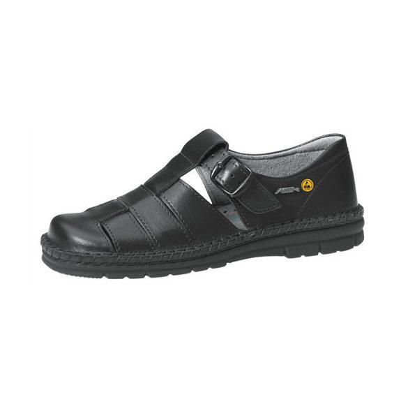 Sandals, ESD, black, handmade 39