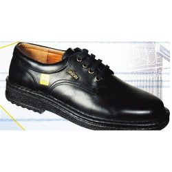 ESD shoe, manager with lace, hand-sewed, black 45