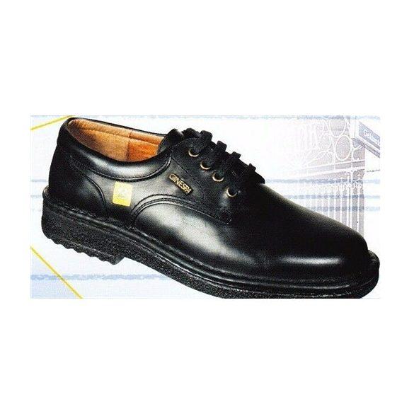 Cipő, ESD, manager, kézzel varrott, fekete, fűzős 45