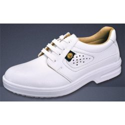 ESD shoe, white, perforated upper, washable, with steel cap 42