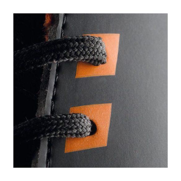 ESD félcipő, fekete, fűzős, légáteresztő