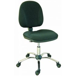ESD szék, sötétszürke vezetőképes szövettel, vezetőképes görgőkkel
