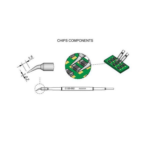 JBC CP-2E digitális forrasztóállomás, precíziós PA120-A csipesz pákával