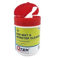 ESD munkafelület tisztító törlőkendő, 100 db/cs adagoló tégelyben