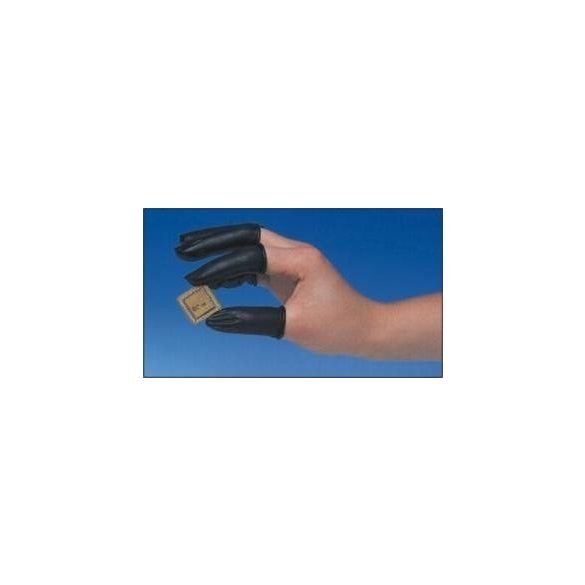ESD gumi ujjvédő, vezetőképes, fekete, 1000db./csomag  L