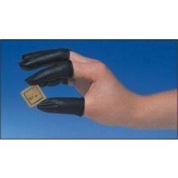 ESD gumi ujjvédő, vezetőképes, fekete, 1000db./csomag  M