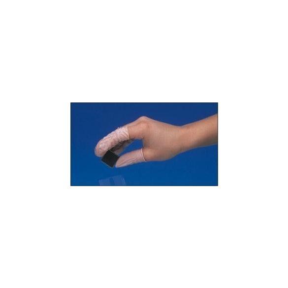Gumi ujjvédő, antisztatikus, rózsaszín, 1000db/csomag XL