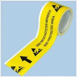 Floor-marking tape with arrow
