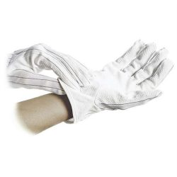 Antistatic gloves with long shaft, dotted on palm, size: S