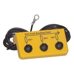 Grounding box with 3 pcs. banana plug