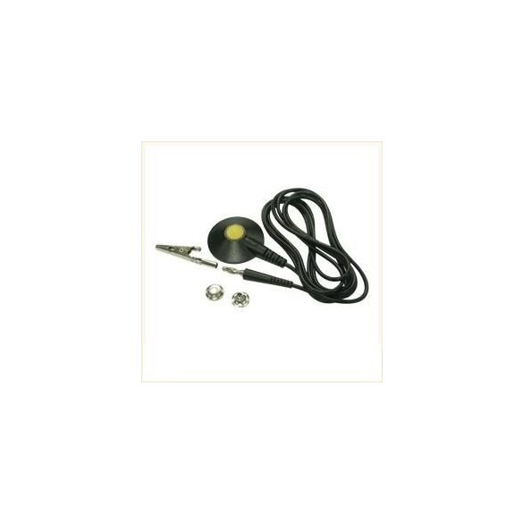Földelő kábel 3m. 1MOhm, 10.3 anya patent – banán dugóval