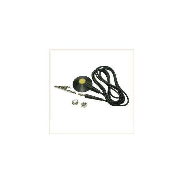Földelő kábel 3m. 1MOhm, 10.3 anya patent – banán dugóval, lerugásbiztos fejjel