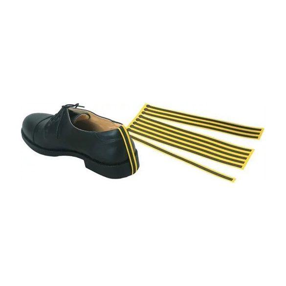 Fali tartó, ESD cipőföldelés csíkhoz, sárga