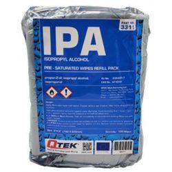 Izopropanolos törlőkendő, 100 db/cs utántöltő csomag