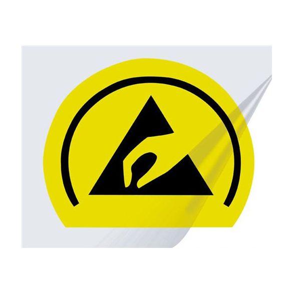 Etikett, EPA logo, PVC, 20x16 mm sárga/fekete, 25db/ív