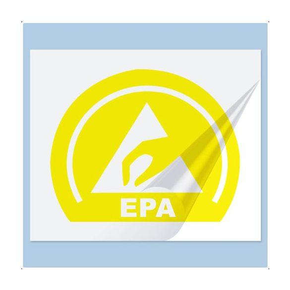 Etikett, EPA logo, PVC, 20x16 mm, sárga 25db/ív