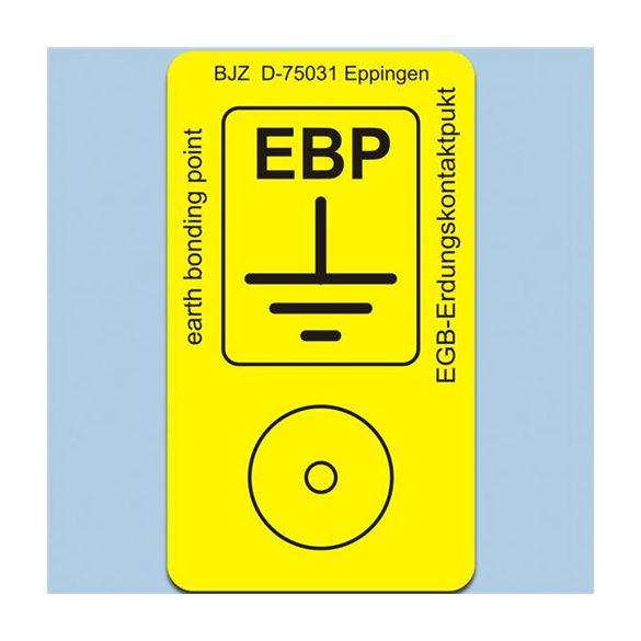 Etikett, EBP logo, PVC, 22x38 mm. 8 db/ív