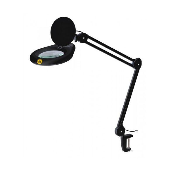 Nagyítós lámpa ESD, LED, fekete, 230V