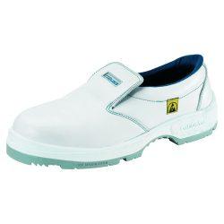 ESD cipő, műanyag kaplis, fehér, belebújós 38