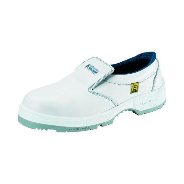 ESD cipő, műanyag kaplis, fehér, belebújós 40