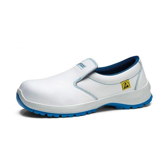 ESD cipő, műanyag kaplis, fehér, belebújós