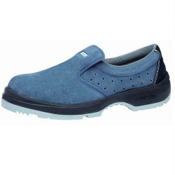 Cipő, ESD, műanyag kaplis, kék nubuk, belebújós 41