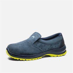 Cipő, ESD, műanyag kaplis, kék nubuk, belebújós