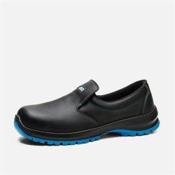Cipő, ESD, műanyag kaplis, fekete, belebújós