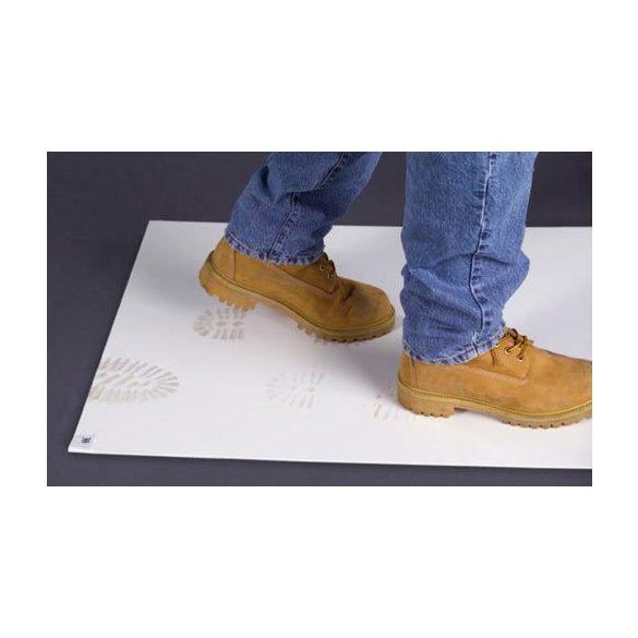 Öntapadó szőnyeg, STICKY-MAT fehér 660x1140 mm. 30 réteg/mat, 10 mat/karton
