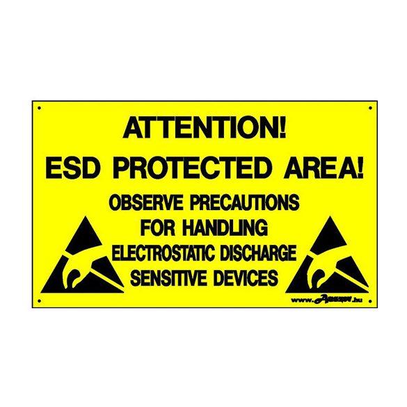 Figyelmeztető tábla angol felirattal 300 x 500 mm