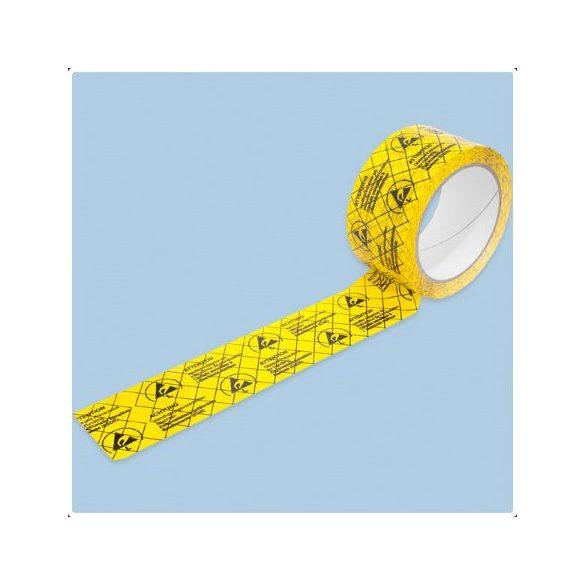 ESD papír ragasztószalag, több nyelvű, méret: 50 mm x 66 m