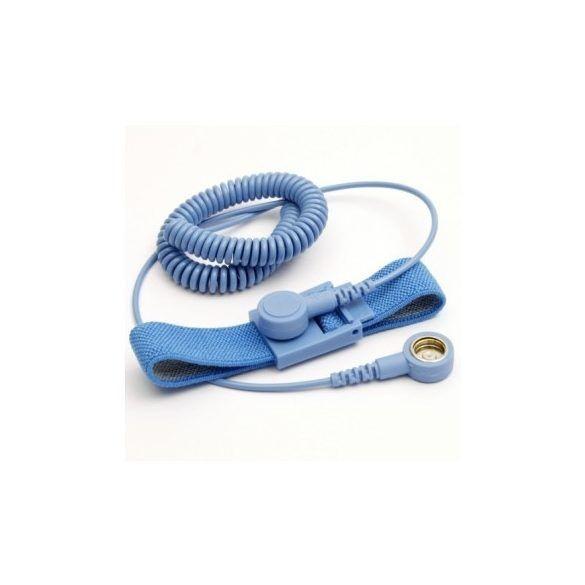 ESD csuklópánt és spirálkábel szett – 10.3 / 10.3 mm patenttal