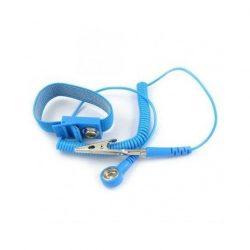 ESD wrist strap and coil cord set - 10.3 mm stud / banana plug + crocodile clip