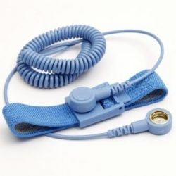 ESD wrist strap and coil cord set - 4 mm / 10.3 mm stud